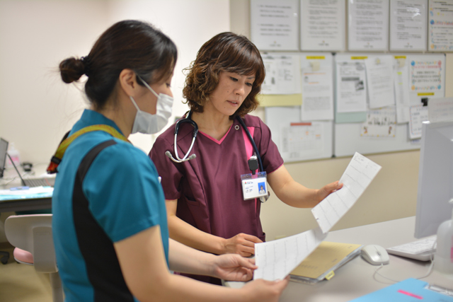 13:30 看護師との心電図チェック
