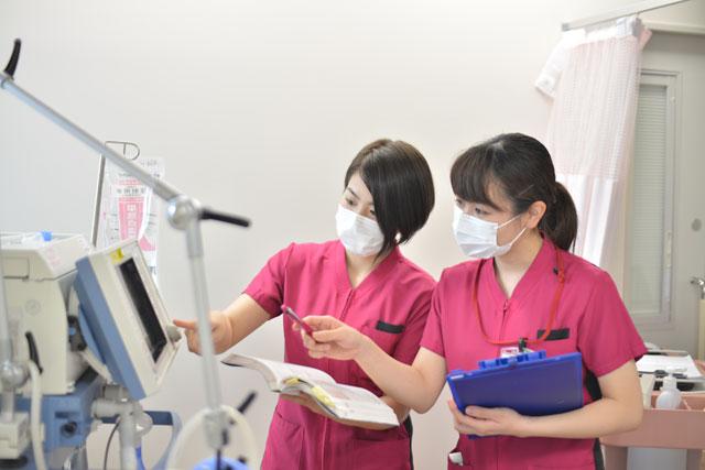 14:30 先輩看護師からの指導